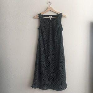 LOFT Dress Striped Sleeveless